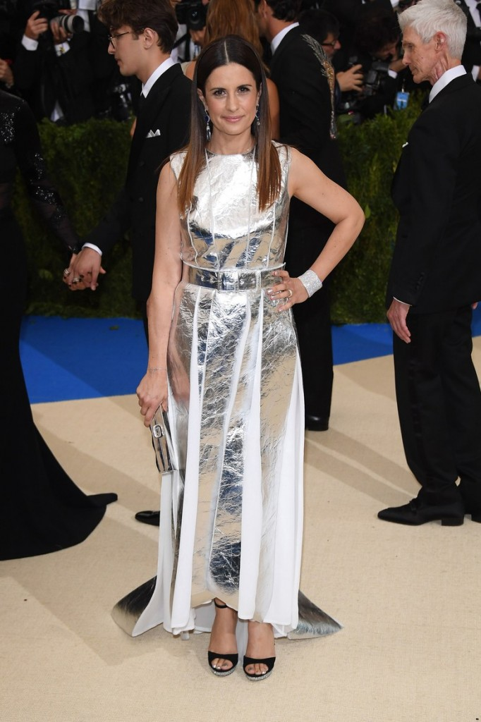 "The dress Livia Firth wore to the 2017 Met gala is made of silver ""leather"" made out of pineapple waste."